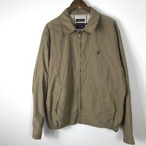 Vintage Nautica Zip Jacket XL Tan